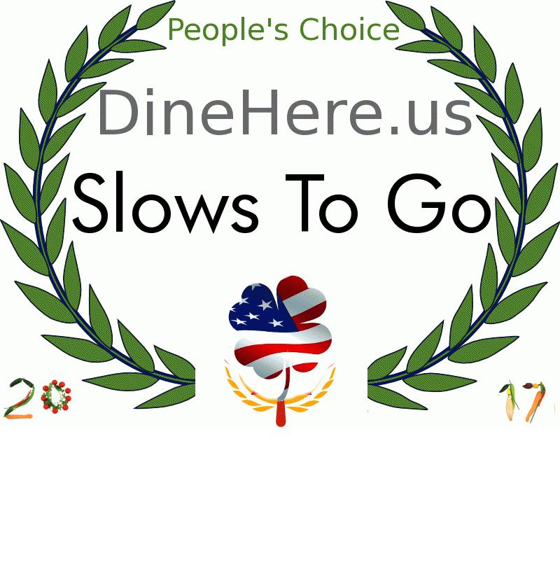 Slows To Go DineHere.us 2017 Award Winner
